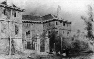 Edward Colston - Cromwell House, Mortlake, where Colston died in 1721