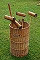 Croquet mallets at Easton Lodge Gardens, Little Easton, Essex, England.jpg