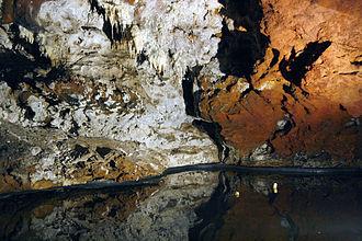 Cave of El Soplao - Inside the cave of El Soplao.