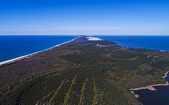 Curonian Spit - Image: Curonian Spit NP 05 2017 img 04 aerial view at Muellers Height