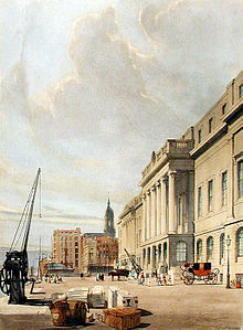 The Custom House in London, 1842 Custom House Shotter Boys.jpg