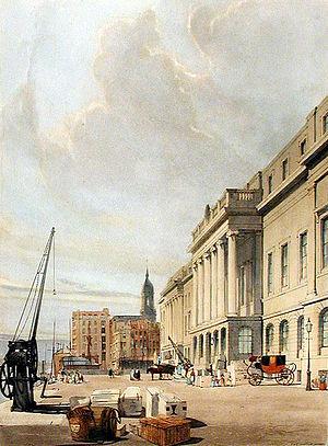Thomas Shotter Boys - The Custom House in London, 1842