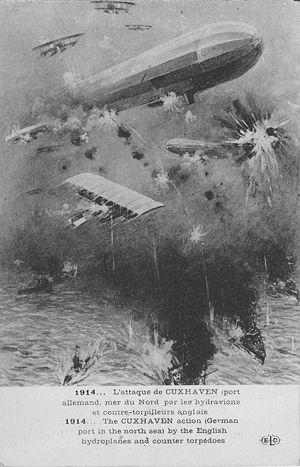 Cuxhaven Raid - Artist's impression of the raid
