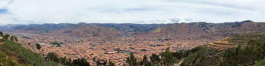 Panorama do sul de Cusco.