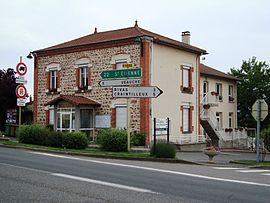 The town hall in Cuzieu