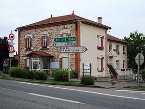 Cuzieu, Loire - The town hall in Cuzieu