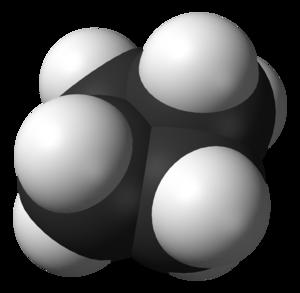Cyclobutane - Image: Cyclobutane buckled 3D vd W