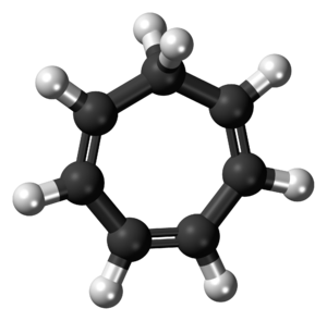Cycloheptatriene - Image: Cycloheptatriene 3D balls