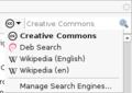 D.Iceweasel3.0.6 searchbar dropdown-Knoppix6.0.1.png