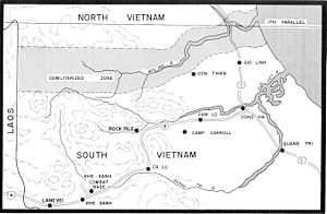 Battle of Khe Sanh - Map of northern Quảng Trị Province.