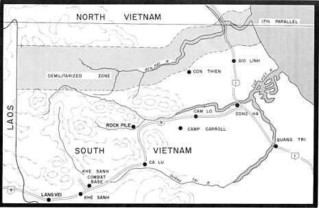 Map Of Northern Quang Tri Province