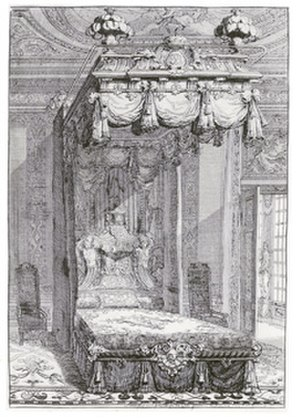 Daniel Marot - State bed, designed by Daniel Marot, engraving, ca 1702