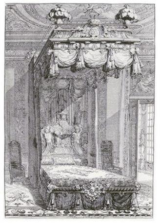 Daniel Marot - State bed, designed by Daniel Marot, engraving, ca 1702