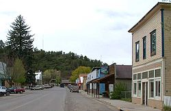 Main Street in downtown Collbran