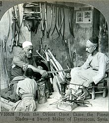 A bladesmith from Damascus, ca. 1900