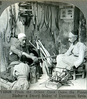 Metalsmith - A bladesmith from Damascus, ca. 1900