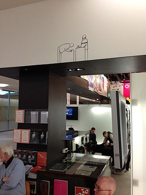 Dan Perjovschi - A drawing by Dan Perjovschi in the entrance of Moderna Museet in Stockholm, 2013