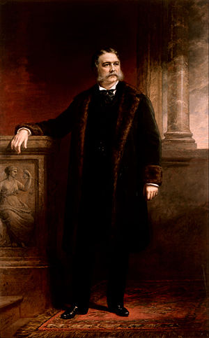 Presidency of Chester A. Arthur - Official White House portrait of Chester A. Arthur by Daniel Huntington