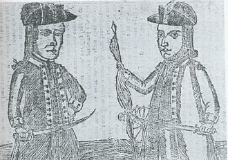 Shays' Rebellion - Image: Daniel Shays and Job Shattuck