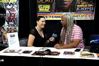 Dave Fennoy - Fennoy being interviewed at the 2017 Game On Expo in Phoenix, Arizona