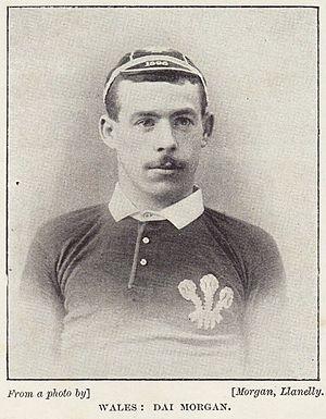 David Morgan (rugby player) - Morgan in Wales jersey