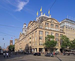 De Bijenkorf - De Bijenkorf flagship store on Dam Square in Amsterdam