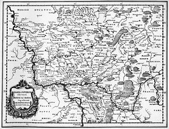 Electoral Rhenish Circle - map of the Electoral Rhenish Circle from Topographia Archiepiscopatuum Moguntinensis by Matthäus Merian, 1646