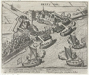 Capture of Delfzijl - Image: De inname van Delfzijl door Prins Maurits in 1591 The capture of Delfzijl by Prince Maurice in 1591