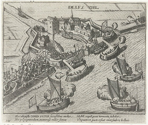 De inname van Delfzijl door Prins Maurits in 1591 - The capture of Delfzijl by Prince Maurice in 1591
