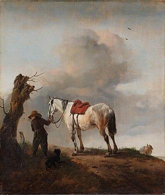 Philips Wouwerman - The white horse