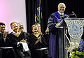 Defense.gov News Photo 100523-F-6655M-006 - Secretary of Defense Robert M. Gates speaks to students from Blue Valley Northwest High School during their graduation ceremony at Kemper Arena in.jpg
