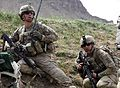Defense.gov News Photo 110510-A-CA126-144 - U.S. Army 1st Lt. Theo Kleinsorge left with 1st Platoon Delta Company 2nd Battalion 30th Infantry Regiment and Spc. Kaleb Ivanoff take cover.jpg