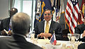 Defense.gov News Photo 120430-D-NI589-0664 - Secretary of Defense Leon E. Panetta talks with Philippines Secretary of National Defense Voltaire Gazmin before a dinner in Gazmin s honor in the.jpg