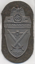 Image illustrative de l'article Plaque de bras Demiansk