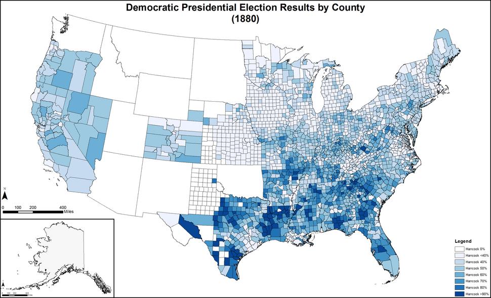 DemocraticPresidentialCounty1880Colorbrewer