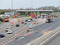 Demolition of the old toll booths on the M4 Prince of Wales bridge (geograph 6094940).jpg