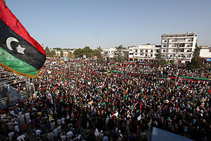 Demonstration in Bayda (Libya, 2011-07-22).jpg