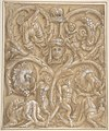 Design for an Ornamental Panel with Rinceaux, Satyrs, Putti, Monsters and a Human Head. MET DP808046.jpg