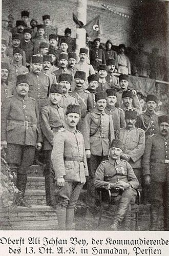 XIII Corps (Ottoman Empire) - Ali İhsan Bey and his men (Hamadan)