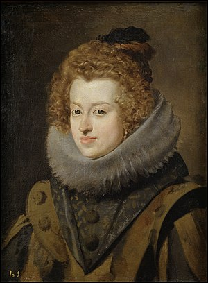Maria Anna of Spain - Portrait of Maria Anna by Velazquez, 1630