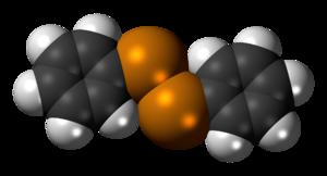 Diphenyl ditelluride - Image: Diphenyl ditelluride 3D spacefill