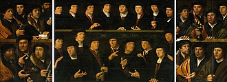 Kloveniersdoelen, Amsterdam - Image: Dirck Jacobsz. A Group of Guardsmen 1529
