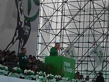 Discorso di Bossi alla festa dei popoli padani a Venezia nel 2012