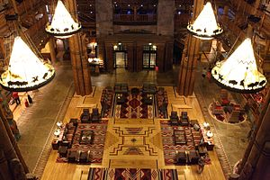 Disney's Wilderness Lodge - Image: Disney's Wilderness Lodge Lobby