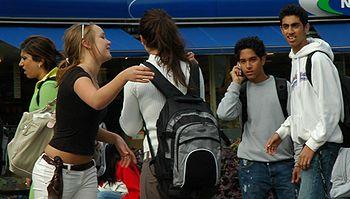 Groupe d'adolescents à Oslo, Norvège.