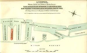 Brunswick Dock - British Empire Dockyards and Ports, 1909