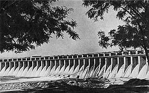 Dnieper Hydroelectric Station - The dam in 1947.