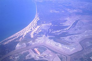 Doñana National Park - Doñana - Aerial view of Doñana National Park and surrounding areas