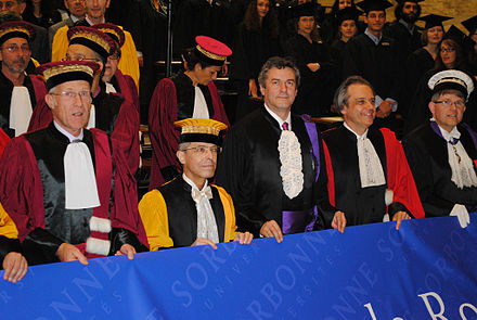 Doctors of various faculties, Paris - Academic dress