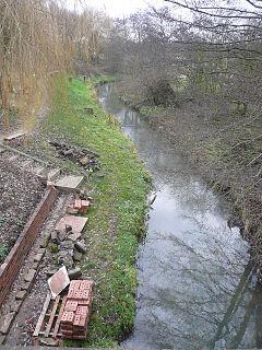 River Doe Lea River in the Derbyshire, England